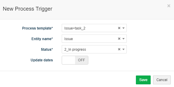 Trigger process task